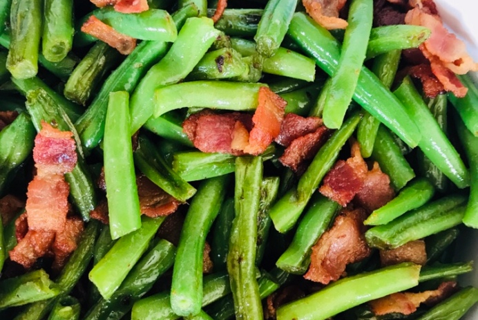 mango and paper recipe bacon and green beans saute